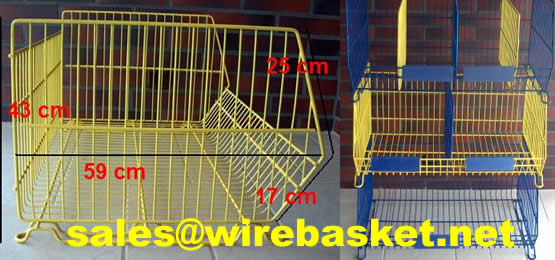 Portable furniture hardware fittings over shelf metal wire hanging storage basket