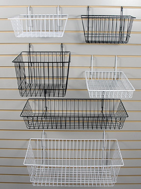 Superior Chrome Powder Coated Hanging Baskets Stackable Containers. Under Shelf  Metal Wire Hanging Storage ...