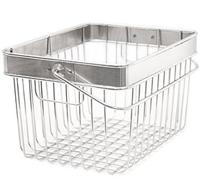 Wire Grid Containers Baskets With Handles